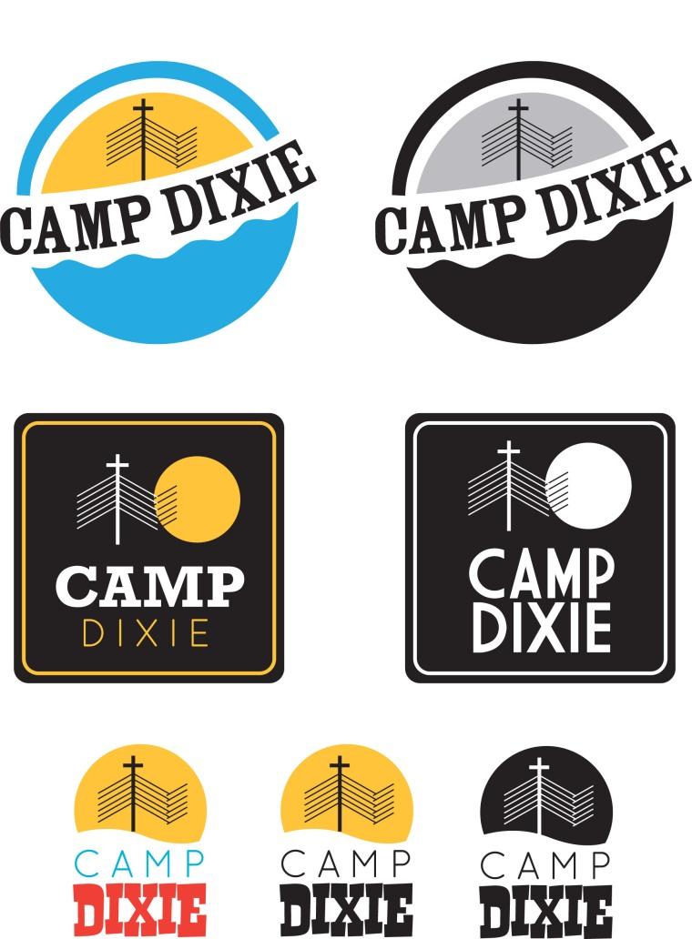 Camp Dixie Logo Designs
